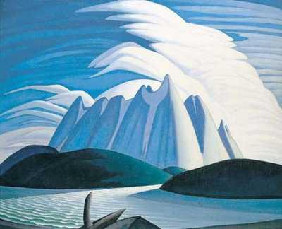 Lawren Harris' Lake and Mountains (1928)