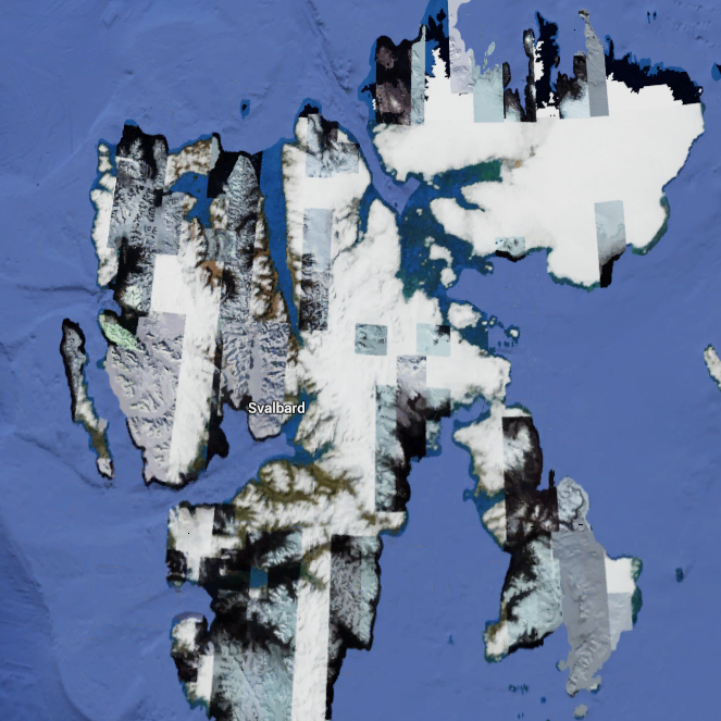 Svalbard via Google Satellite